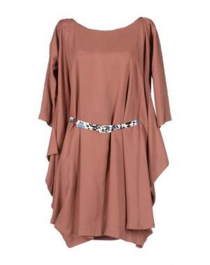 Короткое платье MILA SCHÖN CONCEPT. Цвет: кирпично-красный