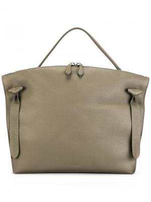 Большая сумка-тоут Hill Jil Sander. Цвет: телесный
