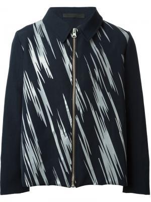 Куртка в принт на молнии Mafalda Fonseca. Цвет: синий