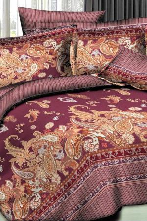 Постельное белье 2,0 сп. 50х70 Patrizia. Цвет: бордовый, коричневый