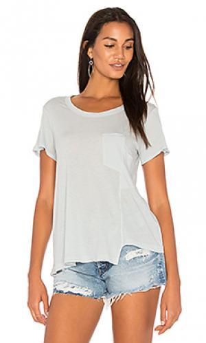 Драпированная футболка с карманом Wilt. Цвет: синий