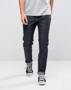 WESC Синие джинсы слим из необработанного денима Eddy. Цвет: синий