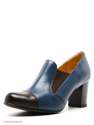 Туфли Goergo. Цвет: синий, коричневый