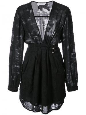 Plunge v-neck dress A.L.C.. Цвет: чёрный