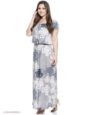 Платье Alego. Цвет: серый