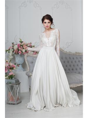 Платье SEAM. Цвет: светло-серый