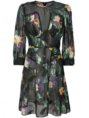 Sheer floral metallic dress Anna Sui. Цвет: чёрный