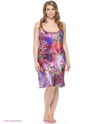Ночная сорочка Del Fiore. Цвет: фиолетовый, бордовый