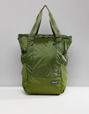 Patagonia Зеленая складываемая сумка-тоут для путешествий. Цвет: зеленый