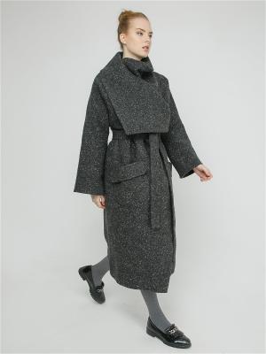Пальто Julia Ivanova. Цвет: серый, темно-серый