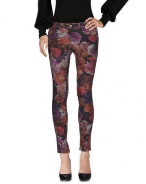 Повседневные брюки MAISON ESPIN. Цвет: красно-коричневый