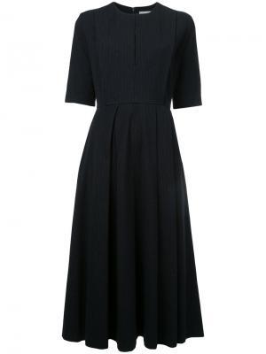 Плиссированое платье-миди Enföld. Цвет: синий