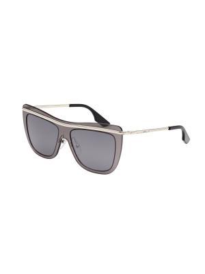 Солнцезащитные очки McQueen. Цвет: серебристый, серый