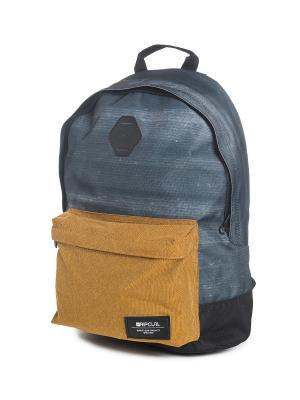 Рюкзак  STACKER DOME Rip Curl. Цвет: темно-синий, синий, темно-коричневый, хаки