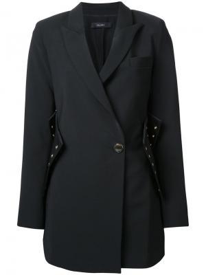 Пальто корсетного кроя Ellery. Цвет: чёрный