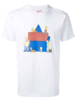Футболка с принтом Simpsons Joyrich. Цвет: белый