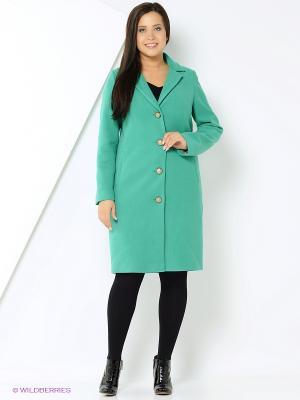 Пальто КАЛIНКА. Цвет: зеленый