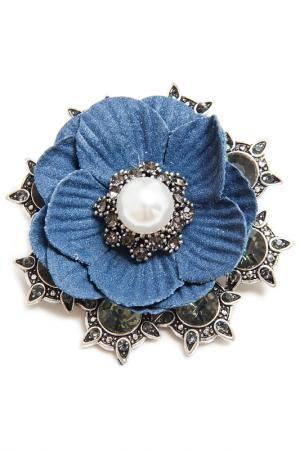 Брошь Boho Chic. Цвет: синий, серебряный, белый