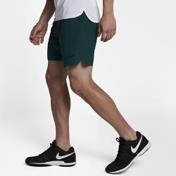 Мужские теннисные шорты Court Flex Ace 18 см Nike. Цвет: зеленый