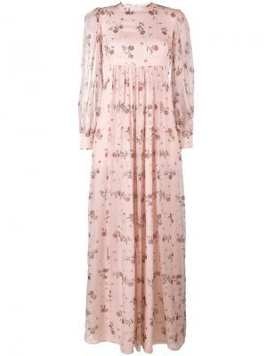 Платье макси Pia Emilia Wickstead. Цвет: розовый и фиолетовый