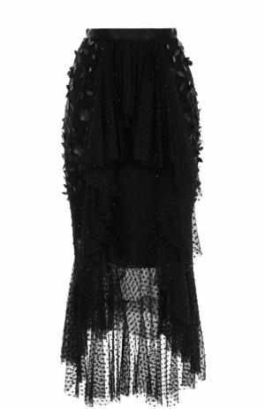 Юбка асимметричного кроя с декоративной отделкой Rodarte. Цвет: черный