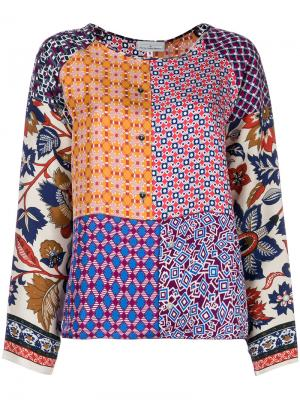 Patchwork patterned blouse Pierre-Louis Mascia. Цвет: многоцветный