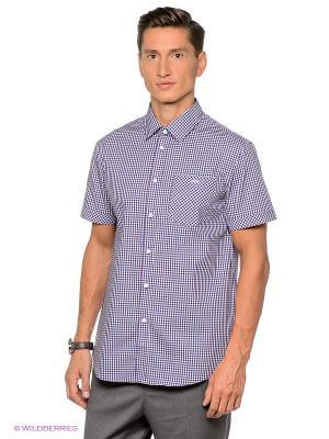 Рубашка Gregory. Цвет: синий, фиолетовый, белый