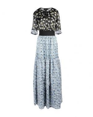 Длинное платье CLASS ROBERTO CAVALLI. Цвет: лазурный