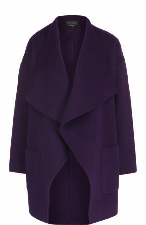 Шерстяное пальто свободного кроя St. John. Цвет: фиолетовый