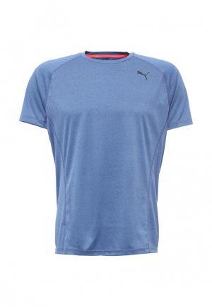 Футболка спортивная Puma. Цвет: голубой
