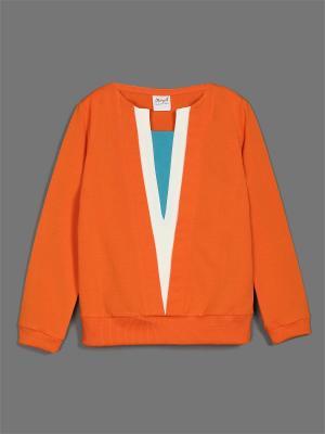 Свитшот ЕМАЕ. Цвет: оранжевый