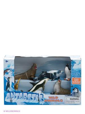 Набор фигурок Антарктические животные Happy Kin. Цвет: синий