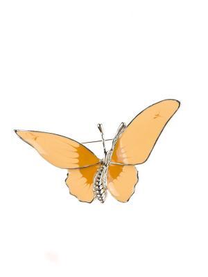 Брошь Bijoux Land. Цвет: серебристый, бежевый, коричневый