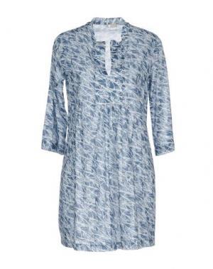 Короткое платье PYAAR. Цвет: грифельно-синий