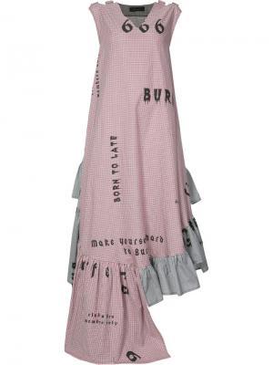 Платье Flounce Area Di Barbara Bologna. Цвет: красный