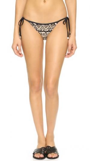 Плавки бикини Tatuagem с завязками по бокам CM Cia Maritima. Цвет: мульти