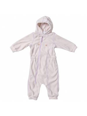 Комбинезон для малышей ЛисФлис. Цвет: молочный, розовый