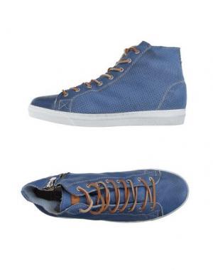 Высокие кеды и кроссовки STOKTON. Цвет: синий