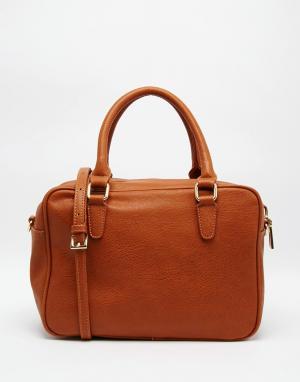 Marc B Мягкая сумка-тоут с короткими ручками Gemma. Цвет: рыжий