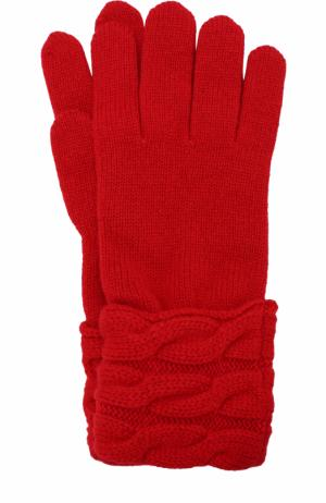 Вязаные перчатки из кашемира Kashja` Cashmere. Цвет: красный