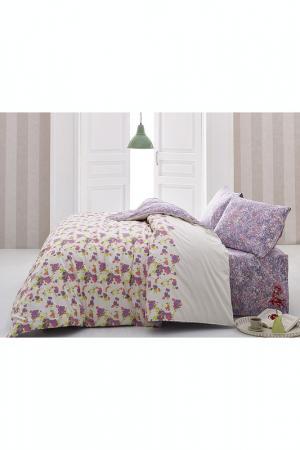 Комплект постельного белья Marie claire. Цвет: white and lilac