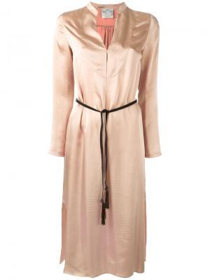 Платье с поясом Forte. Цвет: телесный