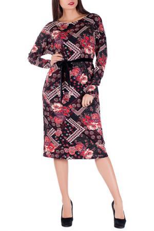 Платье Mannon. Цвет: черно-красный