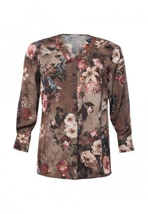 Блуза Fiorella Rubino. Цвет: коричневый