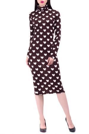 Платье BERENIS. Цвет: коричневый