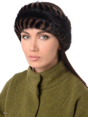 Повязка на голову Ваша Шляпка. Цвет: черный, коричневый