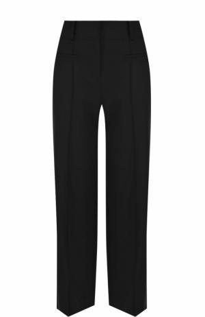 Шерстяные расклешенные брюки со стрелками Diane Von Furstenberg. Цвет: черный