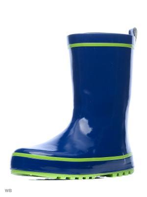 Резиновые сапоги Mursu. Цвет: синий, зеленый