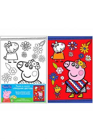 Роспись по холсту Peppa Pig. Цвет: красный