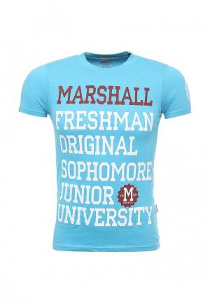 Футболка Marshall Original. Цвет: голубой